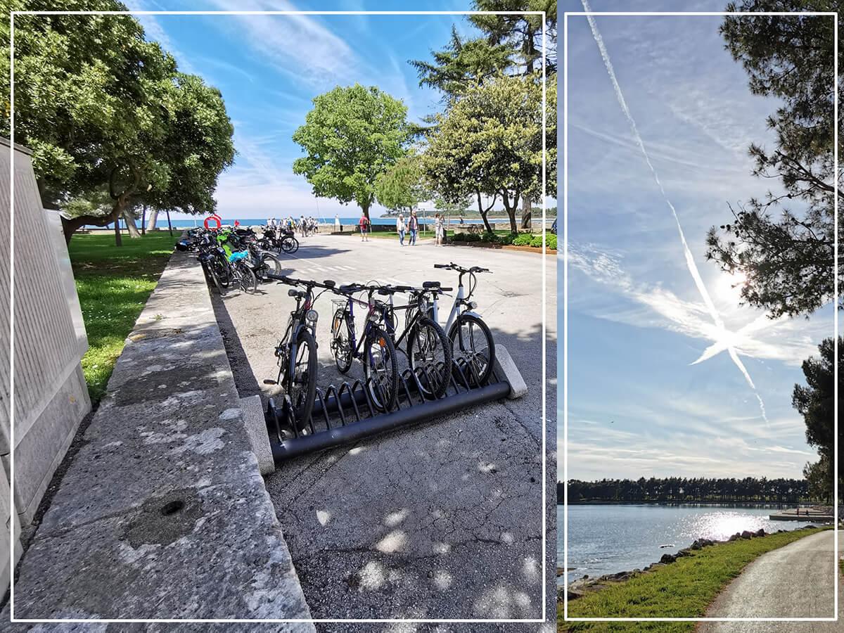 Renting a bike in Novigrad gets you peace of mind